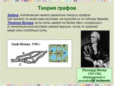 Основы теории графов и алгоритмизации задач