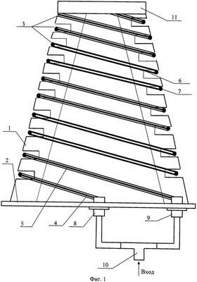 Плоская двухзаходная логарифмическая спиральная антенна