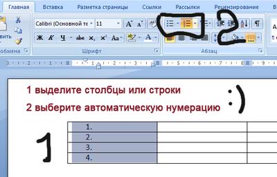 Работа с таблицами в MS Word