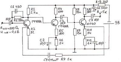 Расчеты элементов электронных схем